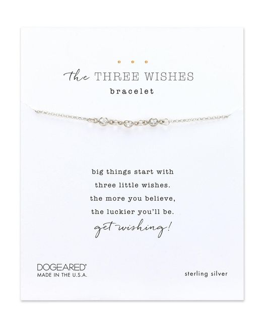 Dogeared - Metallic Three Wishes Bracelet - Lyst