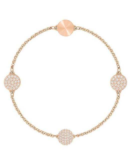 Swarovski | Metallic Remix Collection Crystal Circle Line Bracelet | Lyst