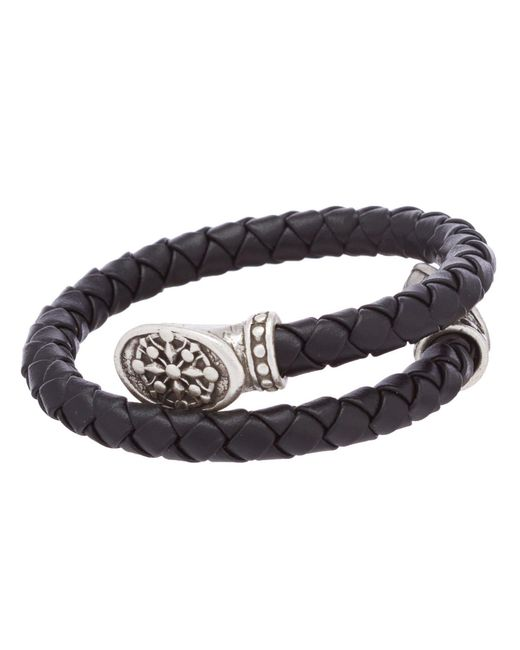 ALEX AND ANI - Metallic Men's Braided Leather Compass Wrap Bracelet for Men - Lyst