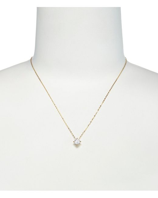Nadri - Metallic Floating Cubic Zirconia Pendant Necklace - Lyst
