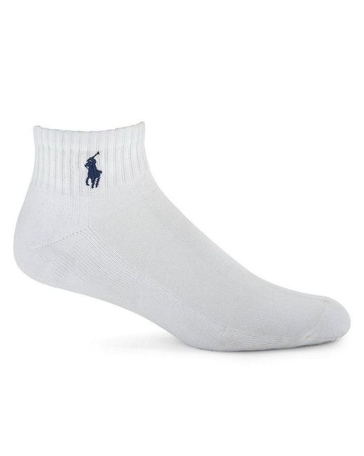Polo Ralph Lauren | White Cushioned Quarter-top Socks 3-pack for Men | Lyst