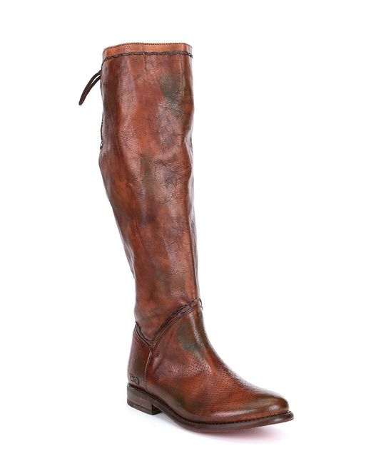 Bed Stu - Brown Manchester Tall Leather Block Heel Boots - Lyst