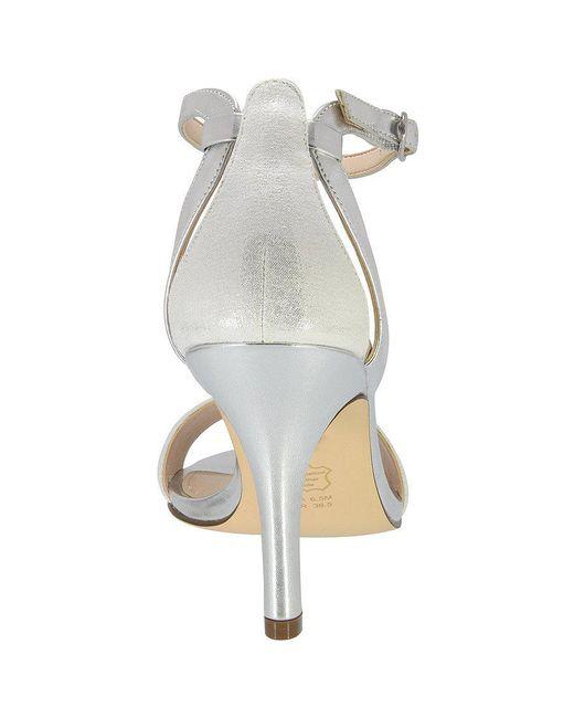 Venetia Metallic Faux Suede Ankle Strap Dress Sandals BAzfjUES
