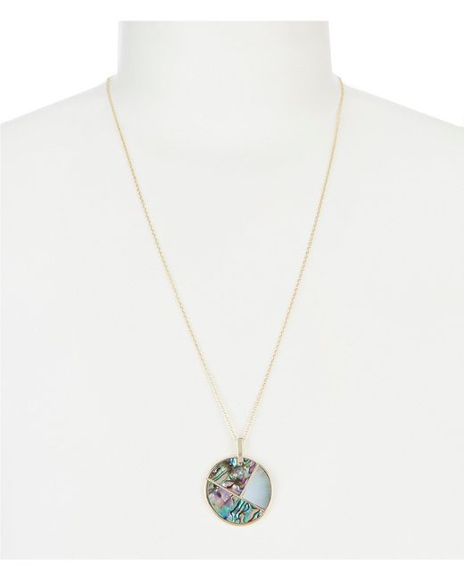 Argento Vivo - Metallic Abalone Disc Pendant Necklace - Lyst