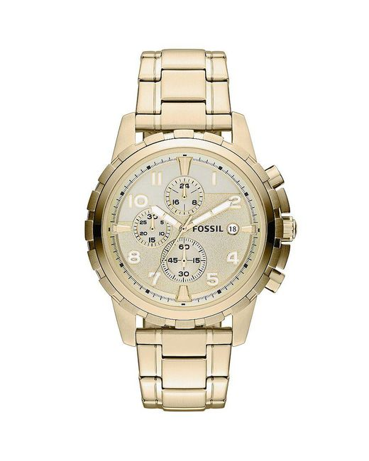 Fossil - Metallic Dean Goldtone Stainless Steel Chronograph Watch for Men - Lyst