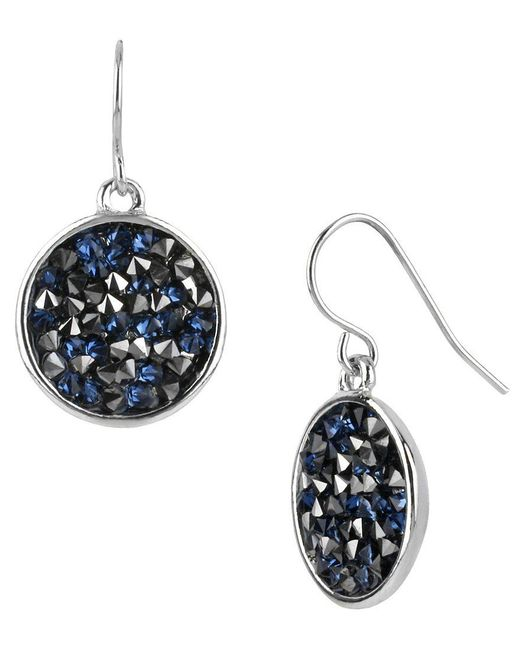 Kenneth Cole | Black Faceted Disc Drop Earrings | Lyst