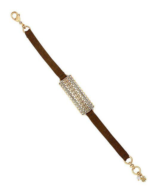 Lucky Brand | Metallic Leather Line Bracelet | Lyst