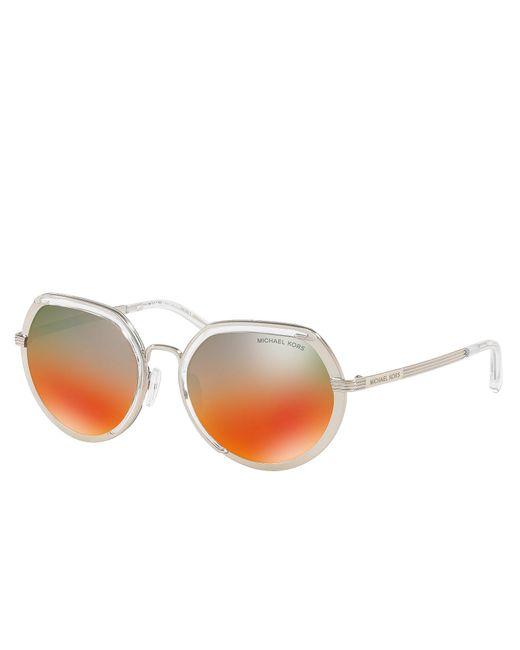 Michael Kors - Metallic Ibiza Silver Sunglasses - Lyst