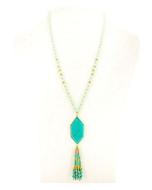 Panacea - Blue Stone Turquoise Mint Pendant Necklace - Lyst
