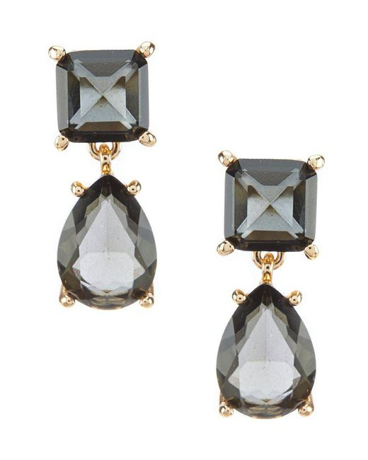 Belle By Badgley Mischka - Black Square And Teardrop Earrings - Lyst