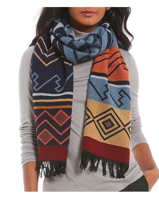 Pendleton | Multicolor Peaceful Ones Fringed Wool Jacquard Muffler | Lyst