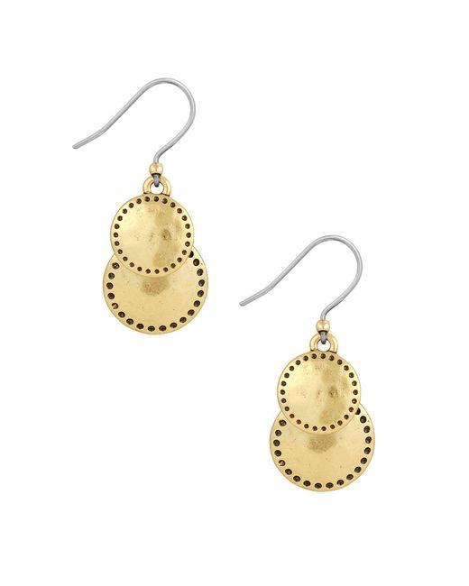 Lucky Brand - Metallic Goldtone Double Drop Earrings - Lyst