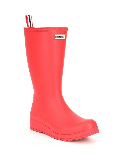 Hunter - Red Boots Original Play Tall Rain Boot - Lyst