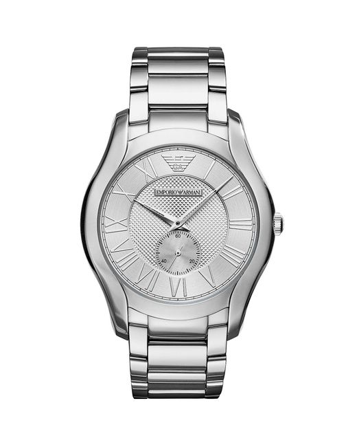 Emporio Armani - Metallic Men's Three-hand Stainless Steel Analog Watch for Men - Lyst