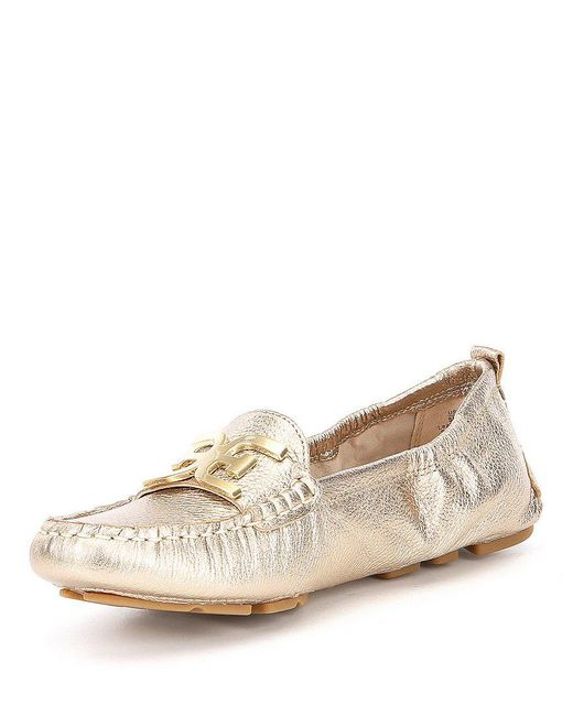 Farrell Metallic Leather Double E Loafers cFibkgxpo