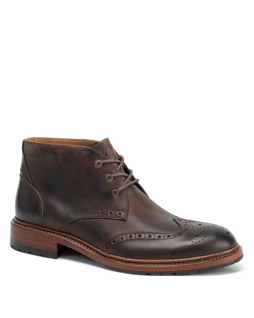 Trask - Brown Men S Lawson Oiled American Steer Wingtip Boots for Men - Lyst
