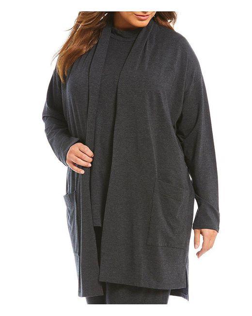 Eileen Fisher | Gray Plus Kimono Cardigan | Lyst
