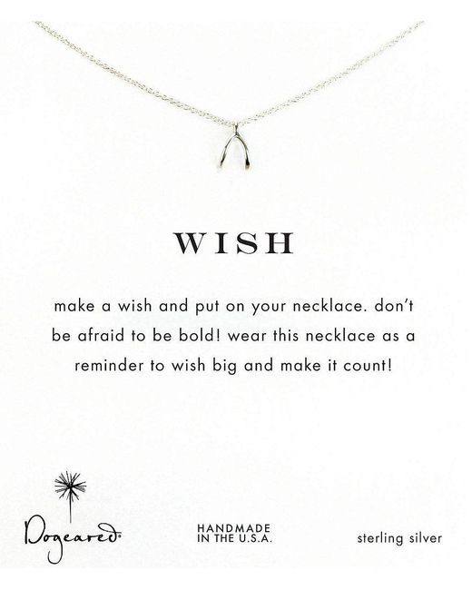 Dogeared | Metallic Wishbone Delicate Necklace | Lyst