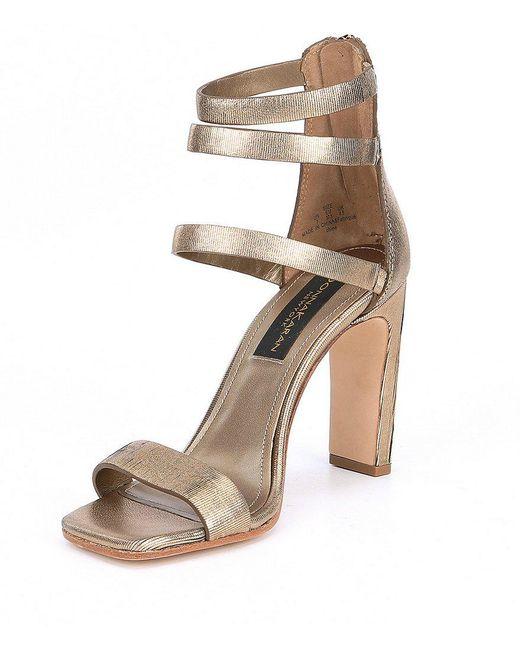 Donna Karan Gracie Suede Block Heel Sandals CS0yh0