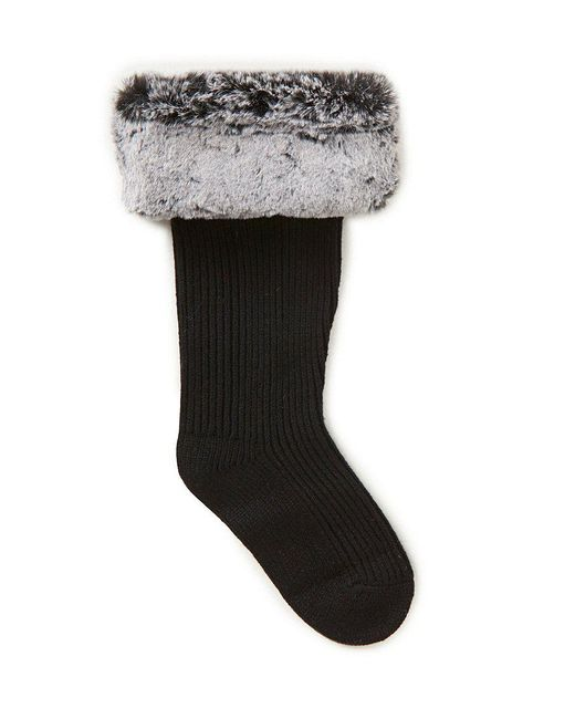 Ugg | Gray ® Shaye Faux Fur Tall Socks | Lyst