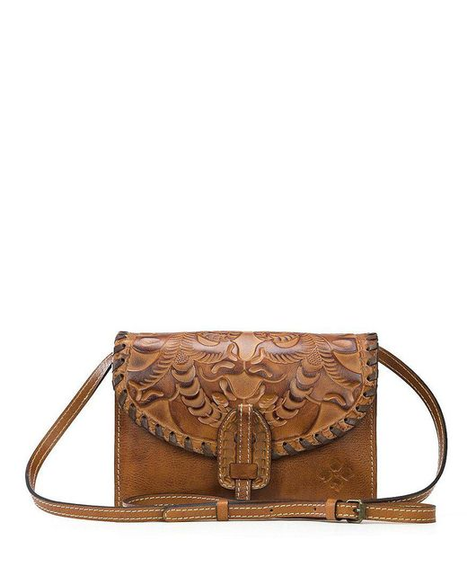 Patricia Nash | Metallic Burnished Tooled Collection Lanza Convertible Cross-body Bag | Lyst