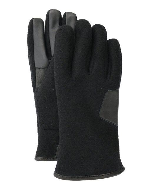 Ugg - Black Men's Genuine Wool & Leather Gloves for Men - Lyst
