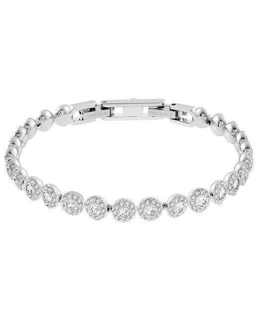 Swarovski   Metallic Angelic Pav Tennis Bracelet   Lyst