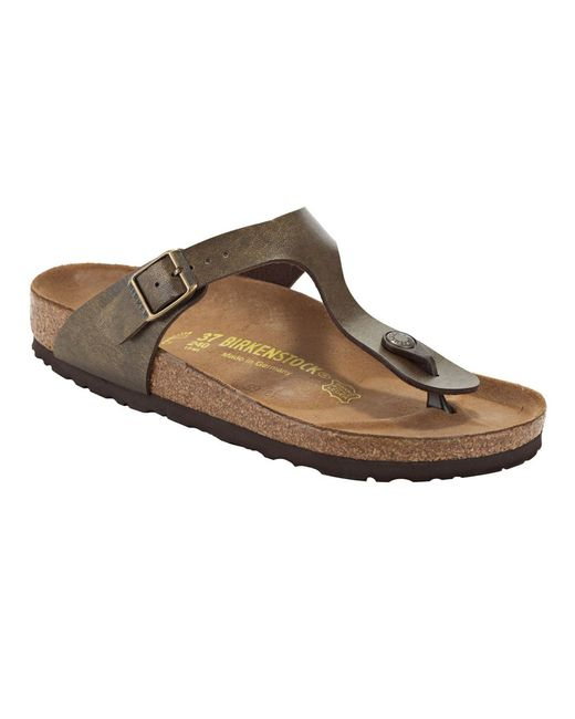 birkenstock gizeh adjustable strap thong sandals in brown. Black Bedroom Furniture Sets. Home Design Ideas