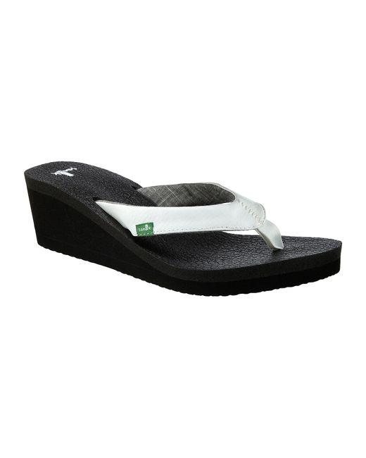 Sanuk Yoga Mat Wedge Sandals In Black Lyst