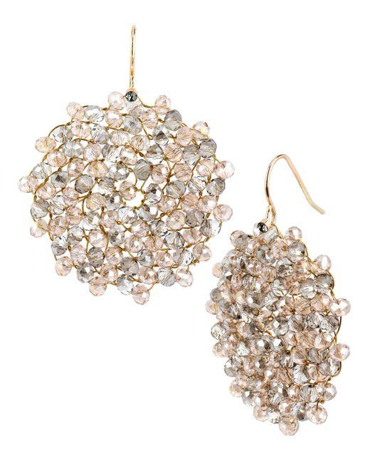 Kenneth Cole | Metallic Woven Drop Earrings | Lyst