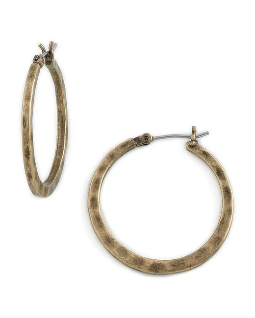 Lucky Brand | Metallic Goldtone Small Round Hoop Earrings | Lyst