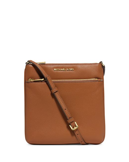 MICHAEL Michael Kors | Brown Michael Riley Small Flat Crossbody | Lyst