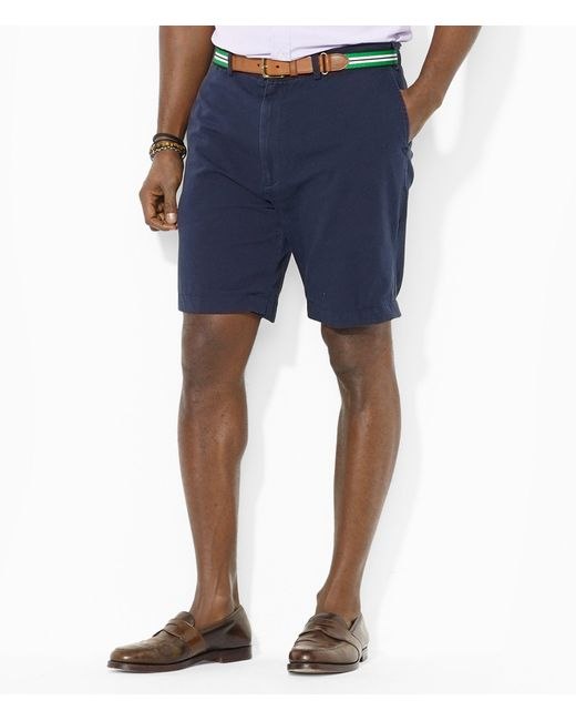 Polo Ralph Lauren | Blue Big & Tall Classic-fit Flat-front Chino Short for Men | Lyst