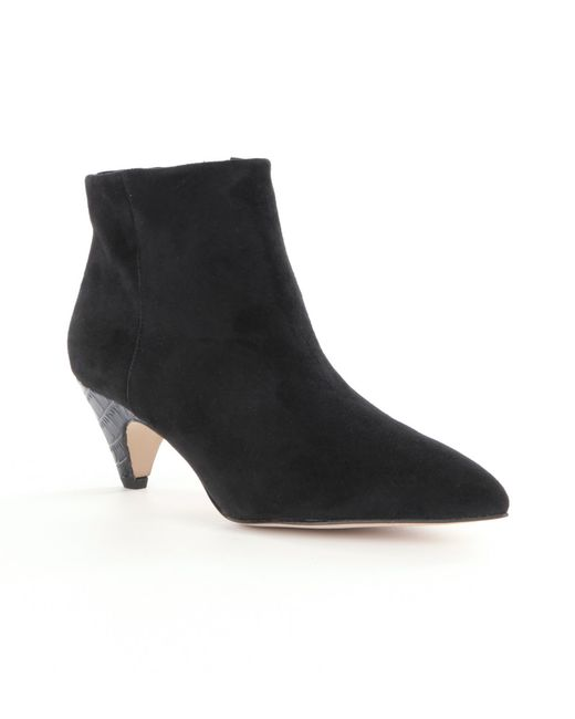 Sam Edelman | Black Lucy Suede Pointed-toe Booties | Lyst