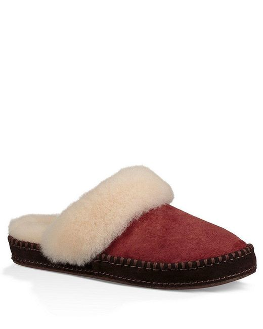 Ugg   Blue ® Aria Decorative Foxing Stitch Water-resistant Slippers   Lyst