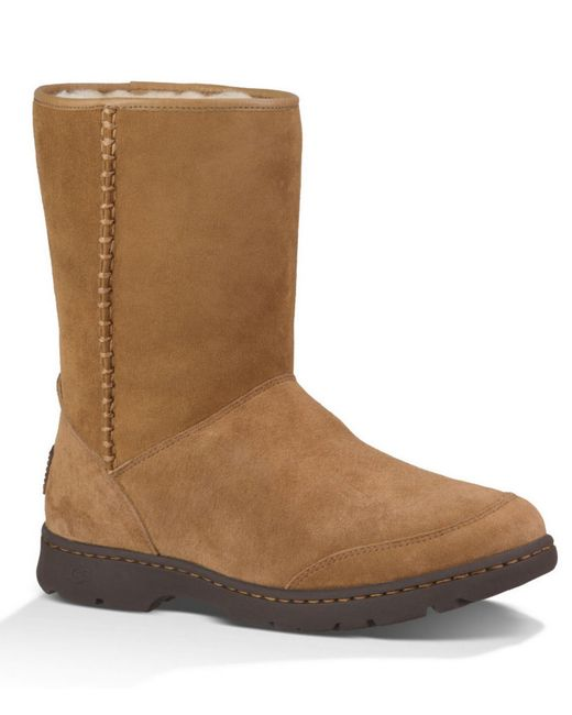 UGG | Natural Ugg 'michaela' Waterproof Suede Boot | Lyst