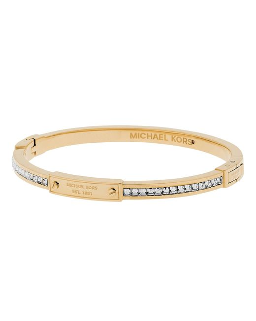Michael Kors | Metallic Baguette Crystal Bangle Bracelet | Lyst