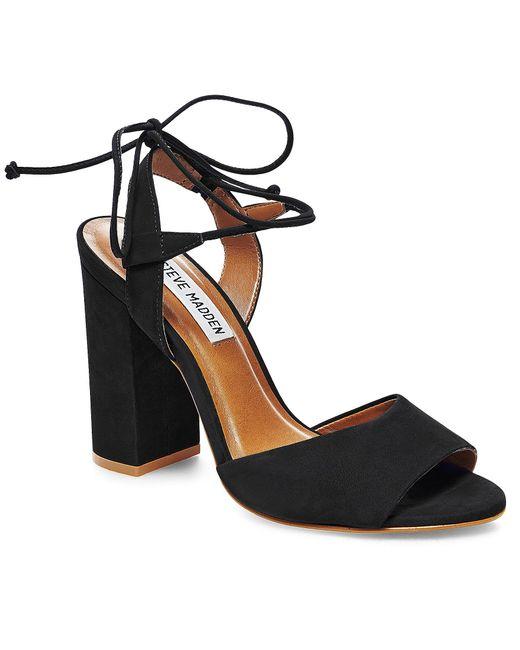 Steve Madden | Black Serrina Peep-toe Lace-up Pumps | Lyst