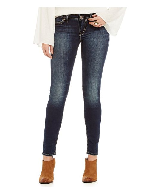 Silver Jeans Co. | Blue Suki Mid-rise Stretch Denim Skinny Jeans | Lyst
