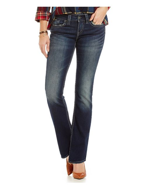 Silver Jeans Co. | Blue Suki Mid-rise Bootcut Jeans | Lyst