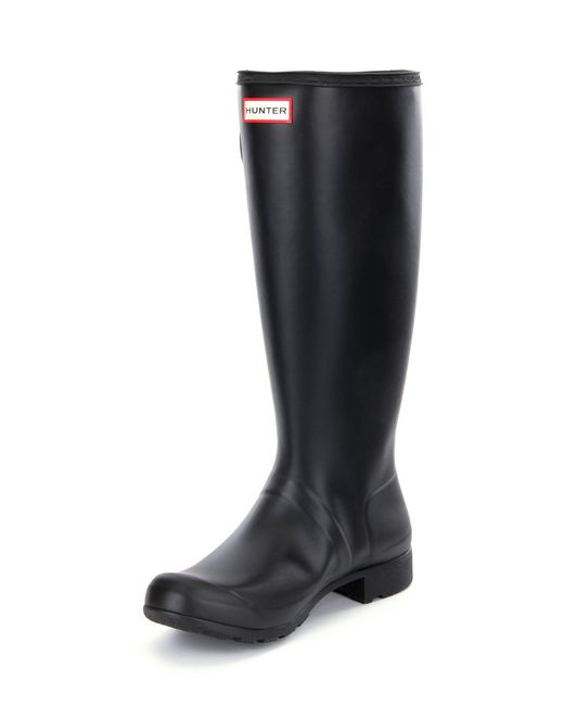 hunter original matte tour rain boots in black lyst