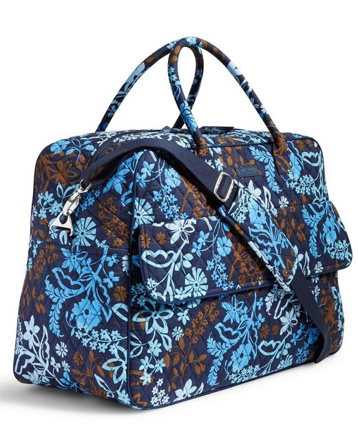 Vera Bradley Grand Traveler Carry On Bag In Blue Lyst