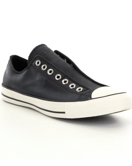 Converse Chuck Taylor 174 Leather Slip On Shoes In Black For
