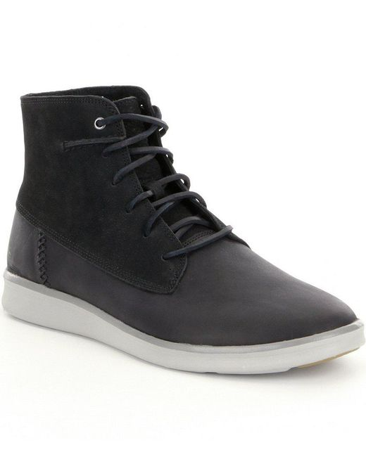 Ugg | Black Lamont Leather Boots for Men | Lyst