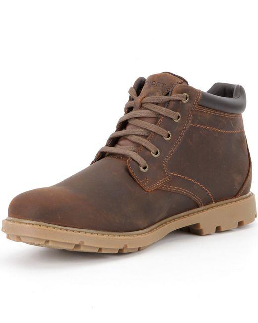 Rockport Rugged Bucks Waterproof Boots In Brown For Men Lyst
