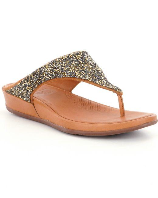 Fitflop | Brown Banda Roxy Sandals | Lyst