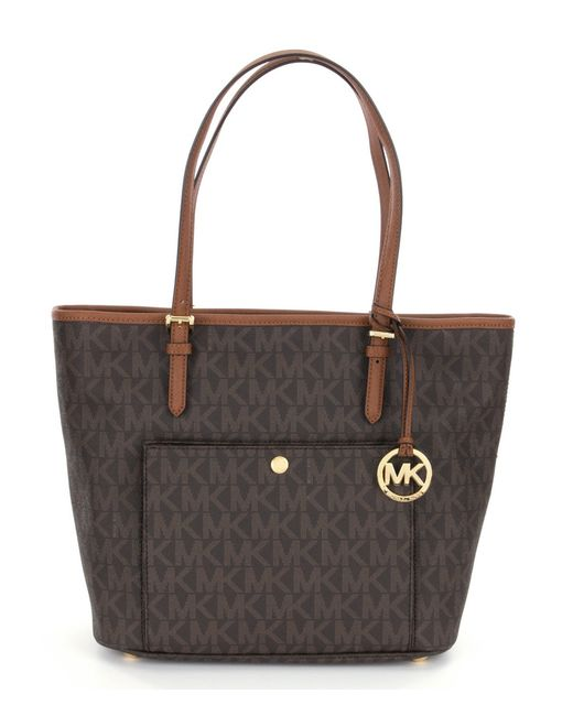 MICHAEL Michael Kors | Gray Jet Set Large Snap Pocket Tote | Lyst
