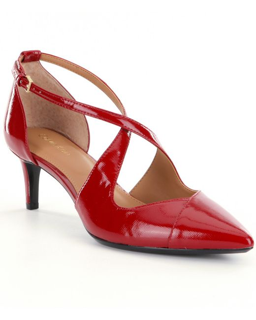 Calvin Klein | Red Pamette Pumps | Lyst