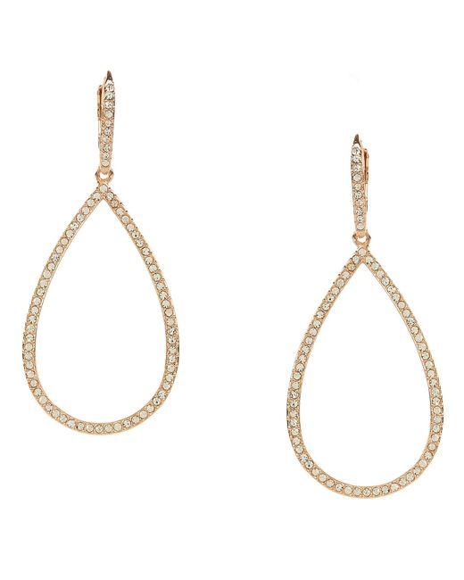 Nadri   White Pavé Gold Plated Teardrop Earrings   Lyst