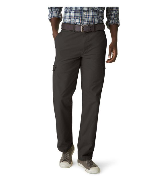 Dockers Crossover Cargo Classic Fit Pants In Black For Men